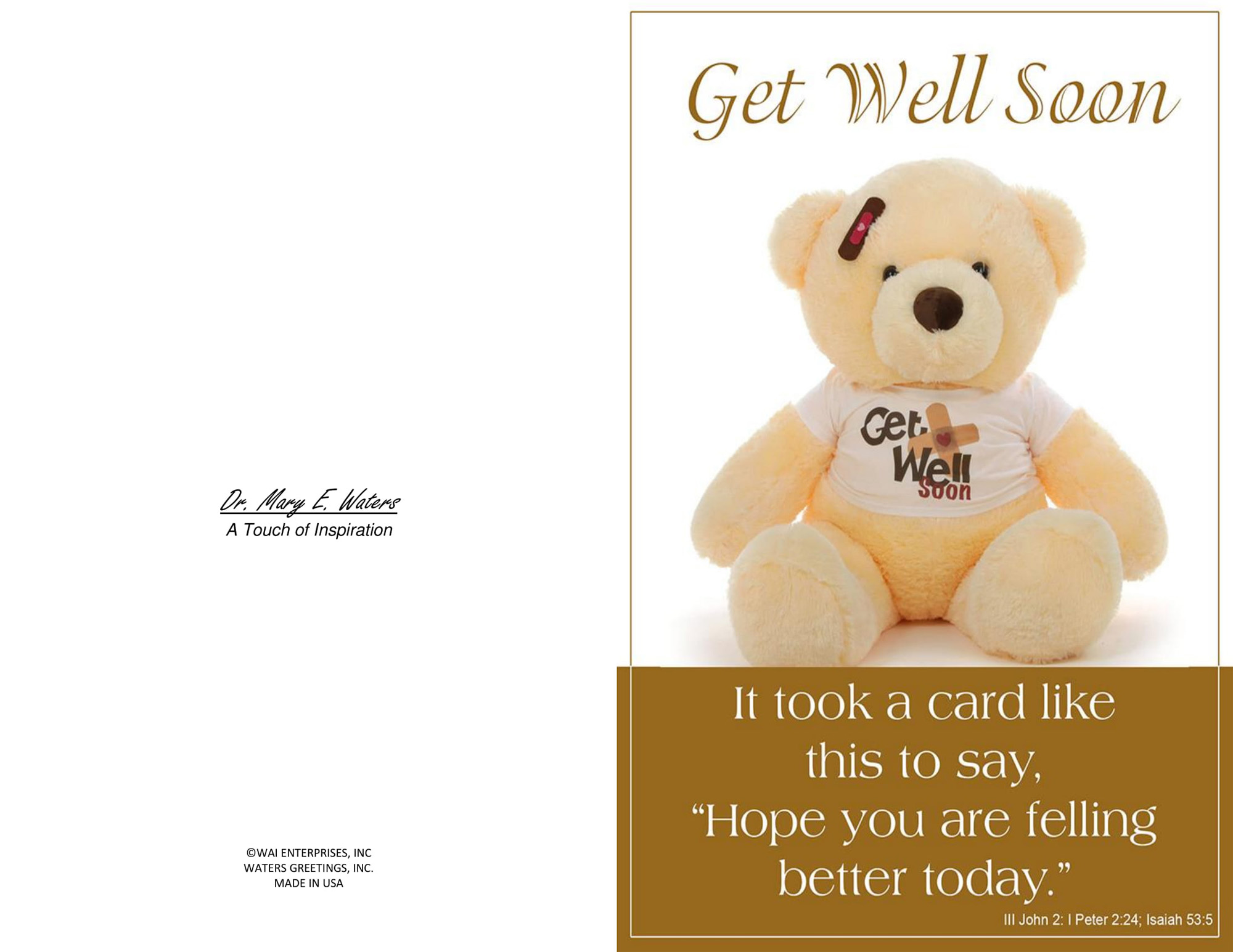 Three Printable Get Well Cards Blank Inside 5 5 X 8 5 And 3